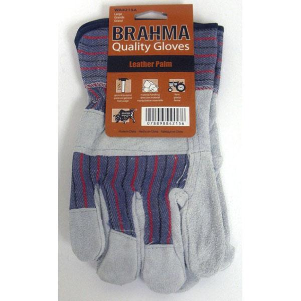 BRAHMA LEATHER PALM HEAVY DUTY W/SAFETY CUFF #WA4215A