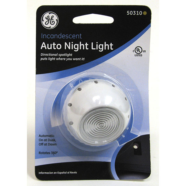 G.E NIGHT LIGHT DIRECTIONAL SPOTLIGHT AUTO #50310