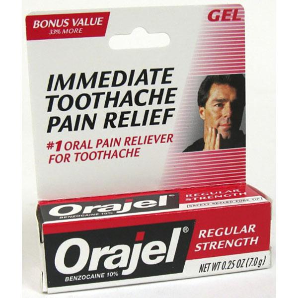 ORAJEL GEL 0.25OZ *REG. STRENGTH*