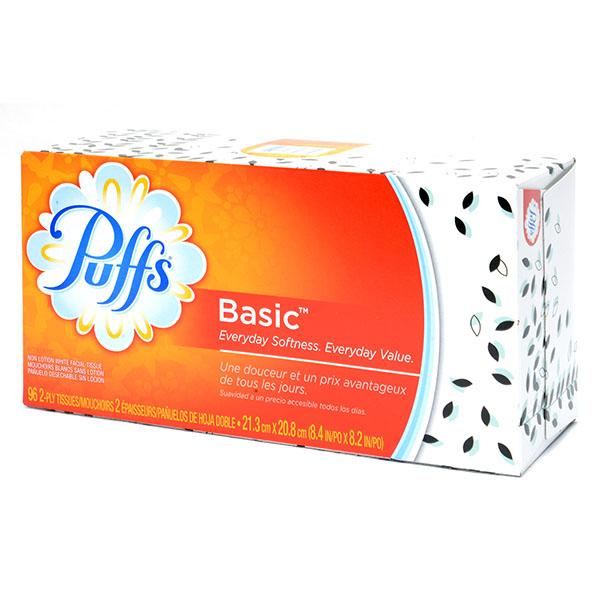 PUFFS FACIAL TISSUES POP-UP *BASIC* 96'S