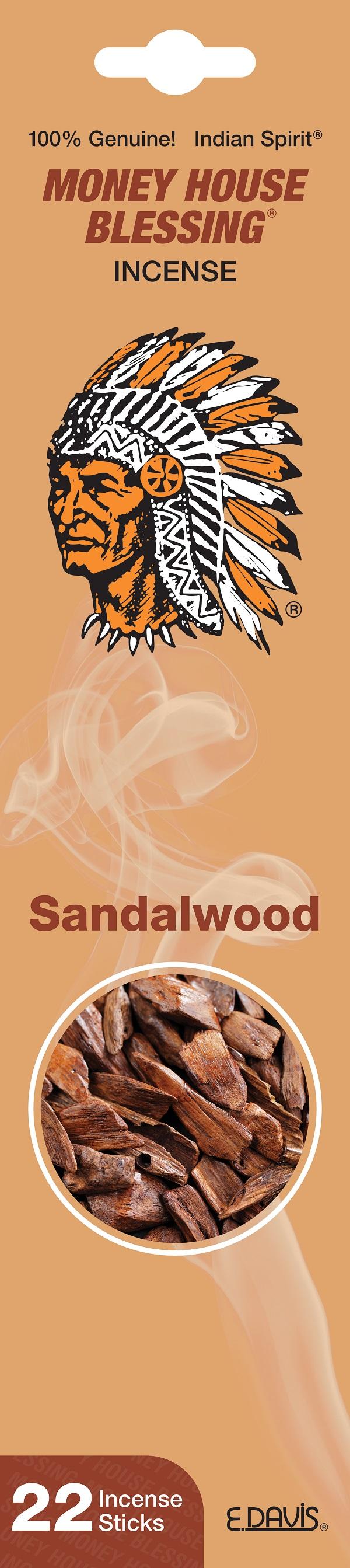 MONEY HOUSE BLESSING INCENSE 22'S *SANDALWOOD*