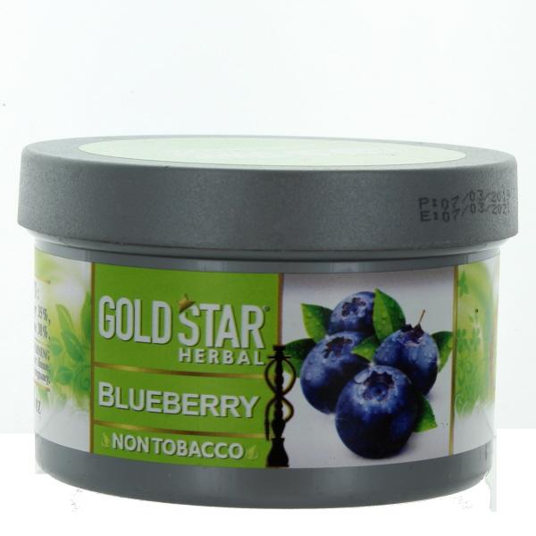 GOLD STAR HOOKAH HERBAL 200GM/7.05OZ *BLUEBERRY*