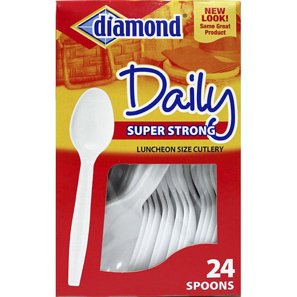 DIAMOND DAILY PLASTIC CUTLERY 24'S *SPOONS*