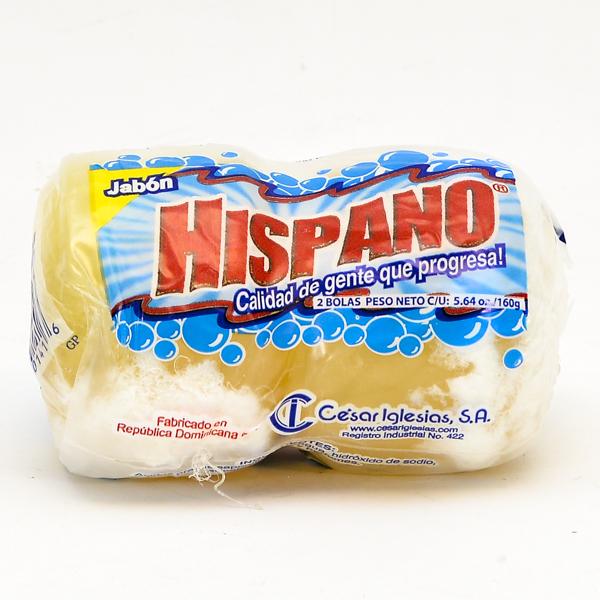 HISPANO LAUNDRY SOAP BAR IMP. 2'S 160GM *ROUND*