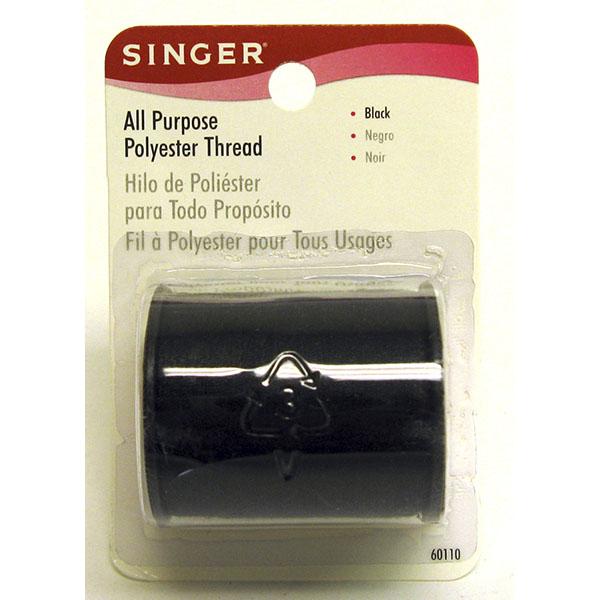 SINGER THREAD POLYESTER ALL PURPOSE *BLACK* #60110