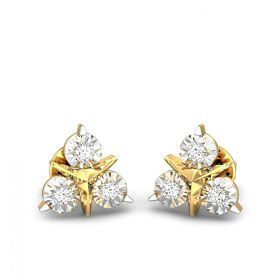 Candere By Kalyan Jewellers 18KT Yellow Gold and Diamond Stud Earrings for Women