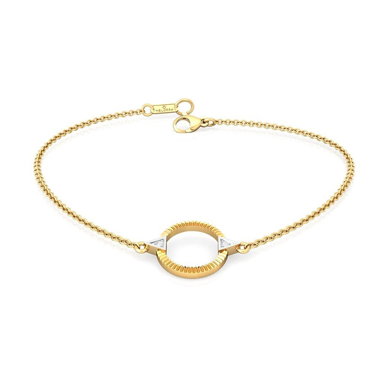 Melorra 18k (750) Yellow Gold and Diamond Strand Bracelet