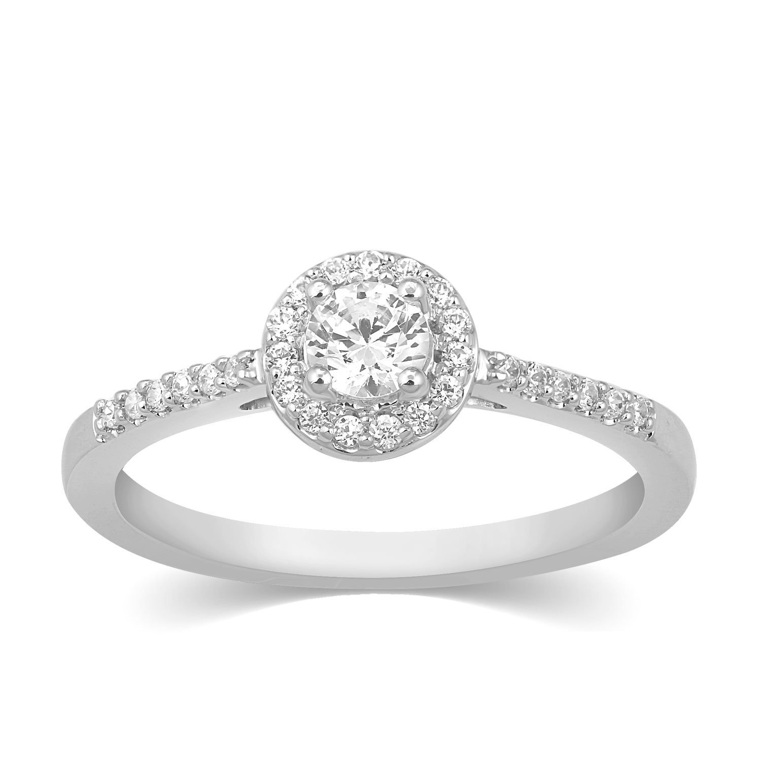 Carats For You Engagement and Wedding Collection 18k (750) Gold and Diamond Ring