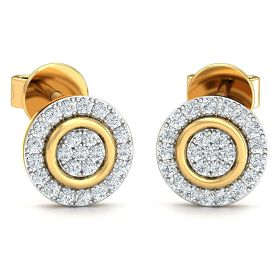 Stylori 18k Gold and Diamond Ryna Encrusted Stud Earrings