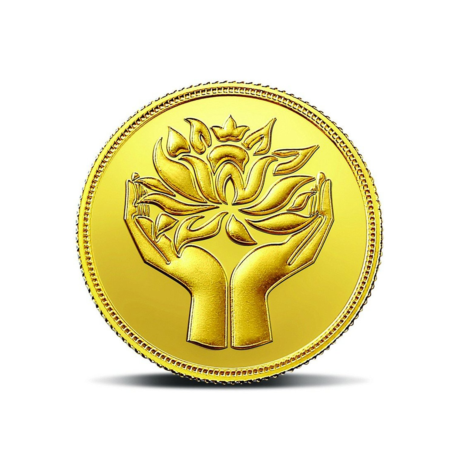 MMTC-PAMP India Pvt. Ltd. Lotus series 24k (999.9) purity 5 gm Gold Coin