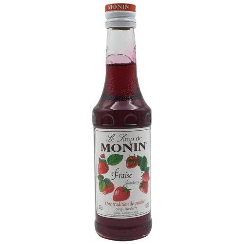 Monin Syrup - Strawberry Flavored, 250 ml