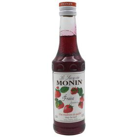 Monin Syrup - Strawberry Flavored, 250 ml