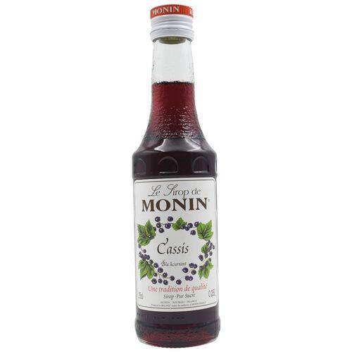 Monin Syrup - Blackcurrant Flavored, 250 ml