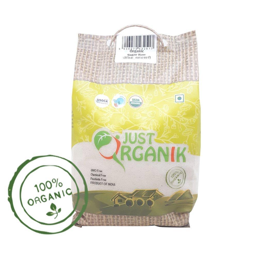 Just Organik Organic Sugar - Raw And Unrefined -1Kg
