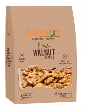 Naturoz Chile Walnut / Akhrot Kernels, Dry Fruits (225g)