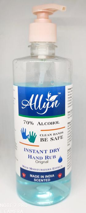 Allyn hand sanitizer 70% alcohol based (200ml)