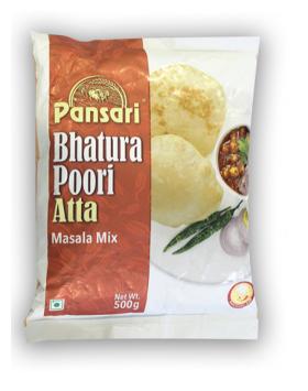 Pansari Bhatura Poori Atta Masala Mix / Flour Pouch (500g.)