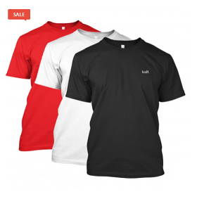 Men's Solid Round Neck Half Sleeve T-shirts (Pack of 3)