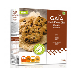 Gaia Dark Choco Chip Cookies (200 g.)