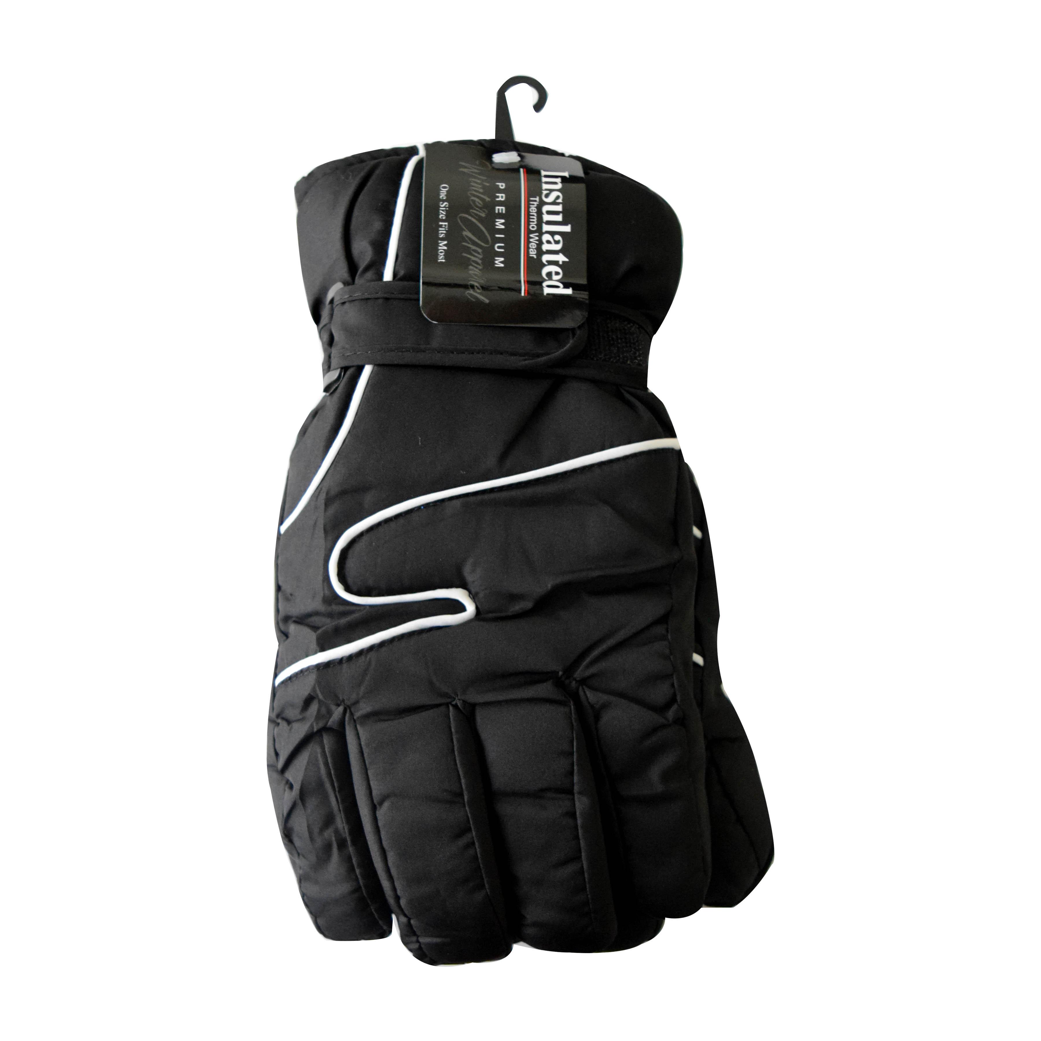 Winter Ski Glove Men Black/Gray
