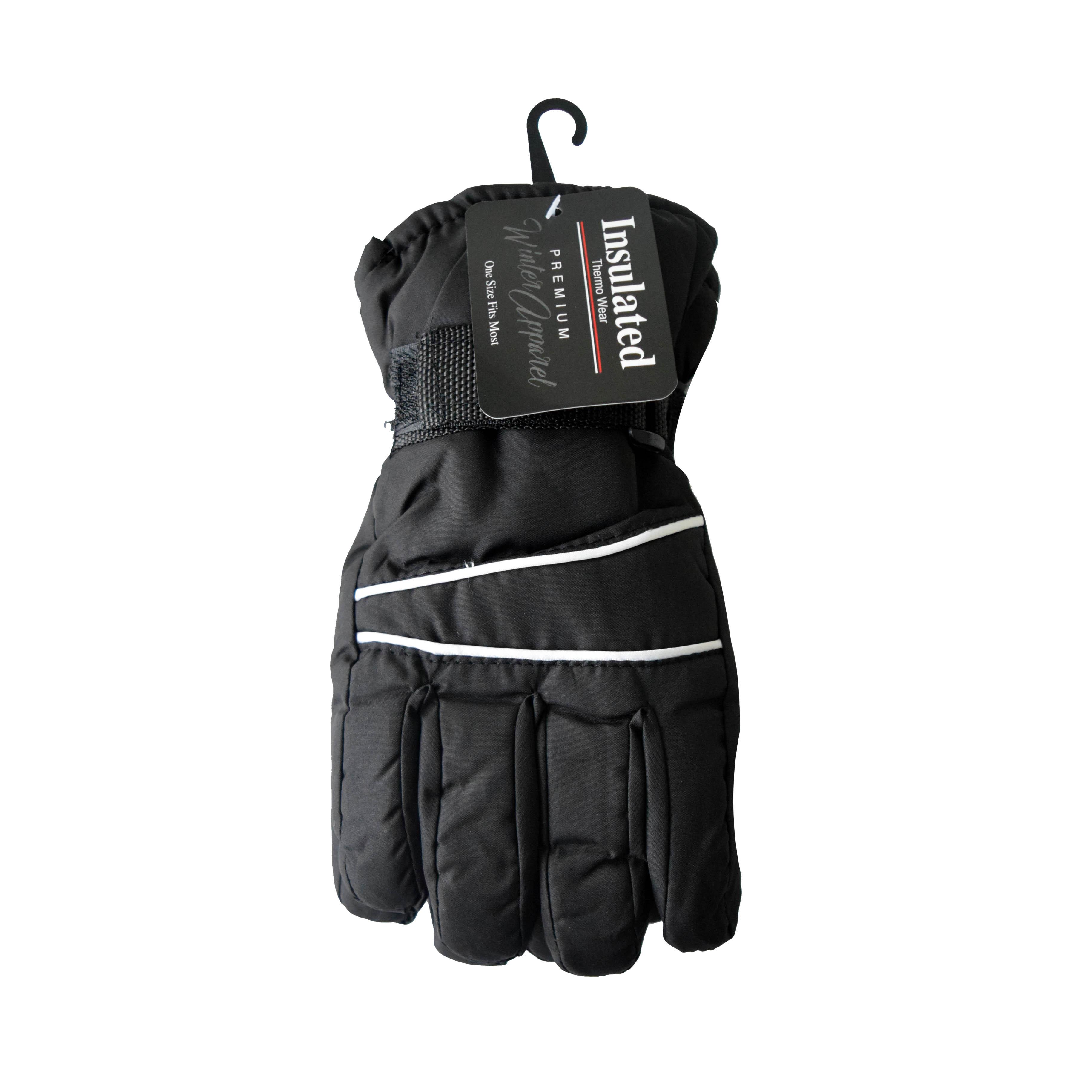 Winter Ski Glove Kids Black/Gray