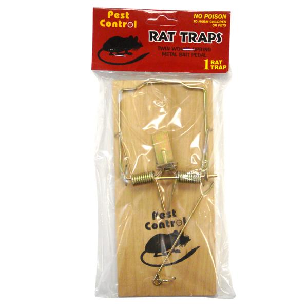 Pest Control Wooden Rat Trap 1PK