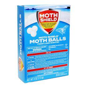 Moth Shield Moth Balls 4oz Fresh Linen Scented