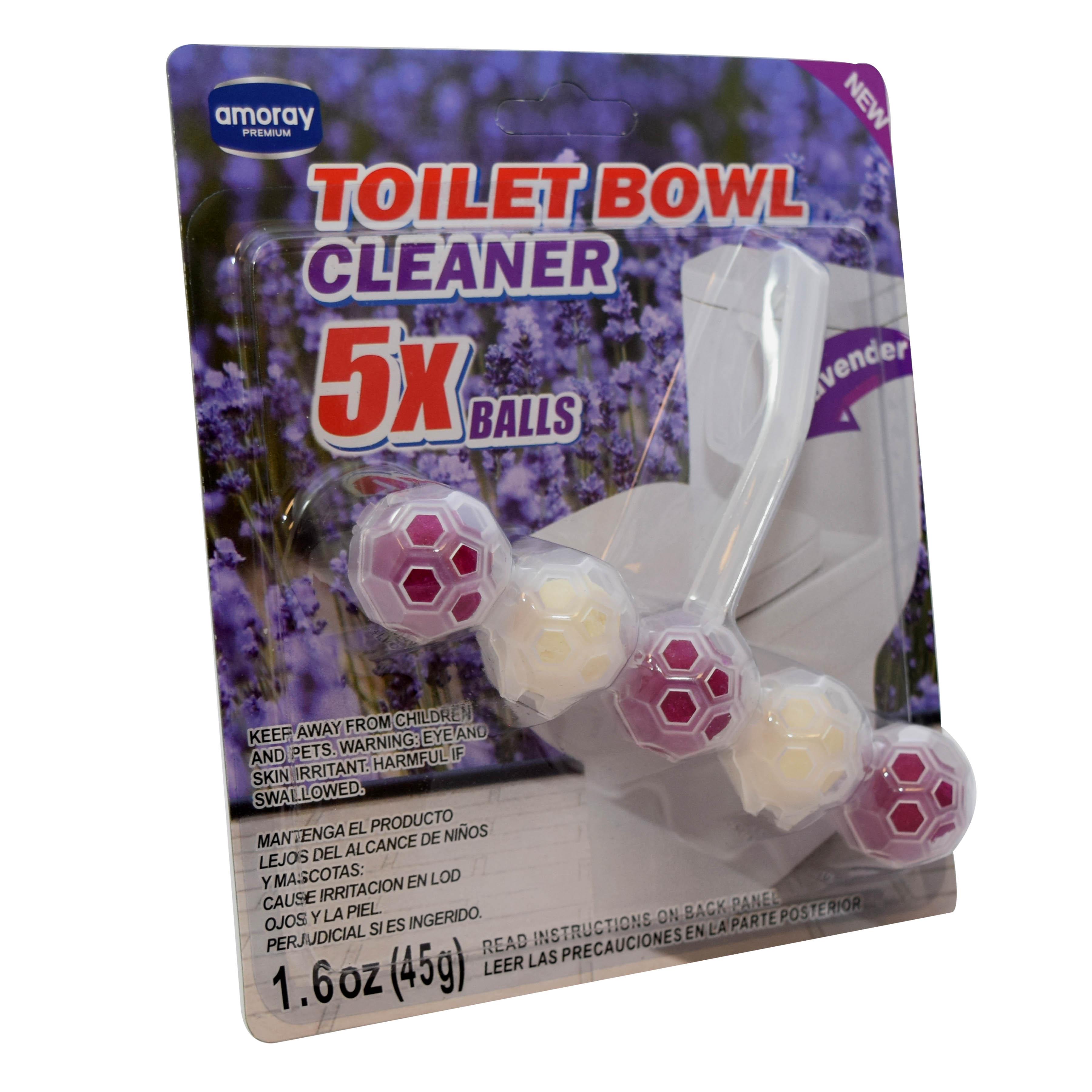 Amoray Premium 5pk Toilet Bowl Cleaning Balls Lavender