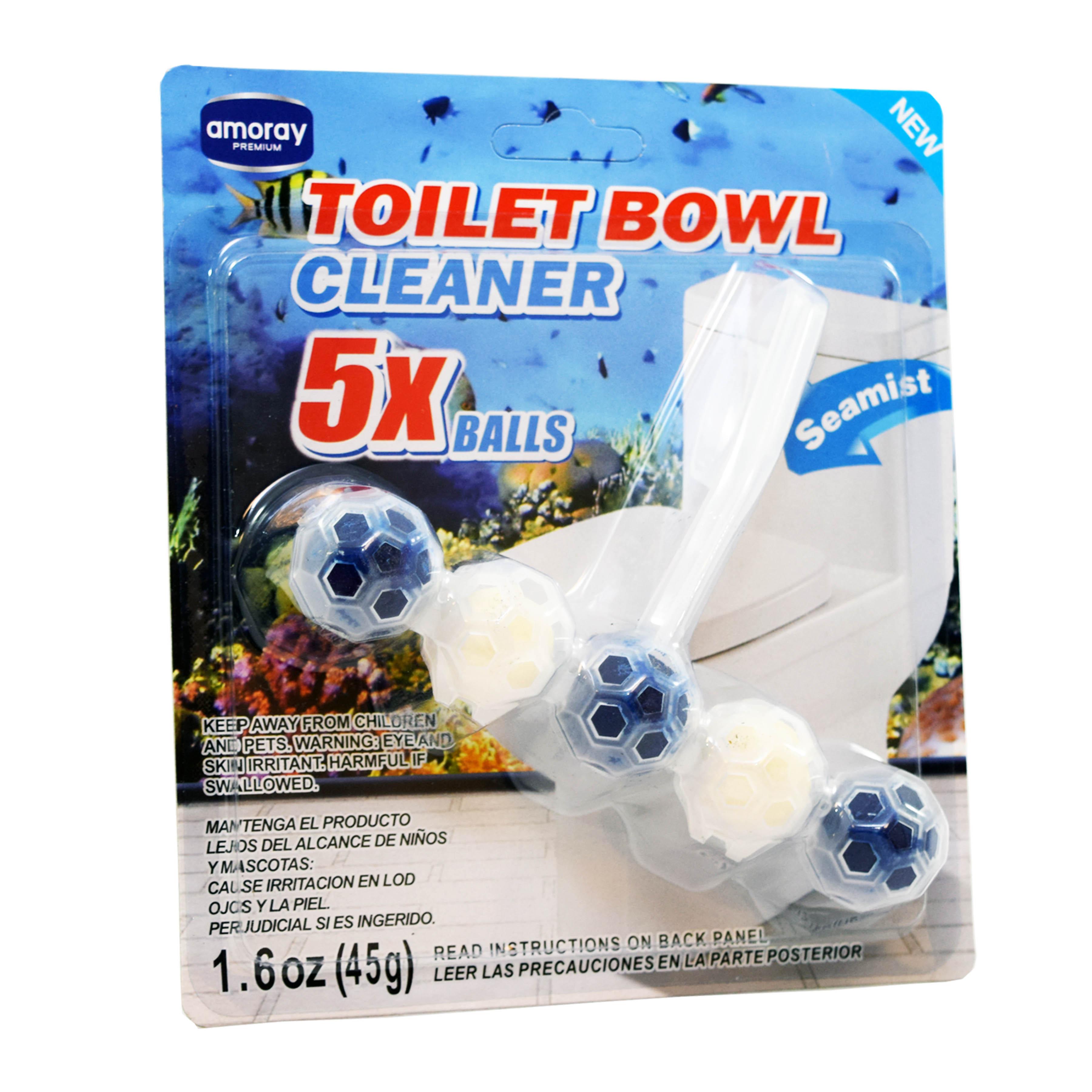 Amoray Premium 5pk Toilet Bowl Cleaning Balls Sea Mist