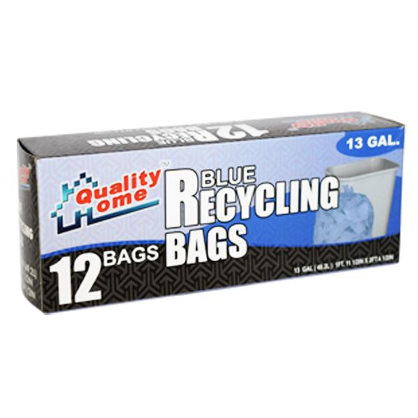 Garbage Bag Box Blue Recycle 13G 12CT
