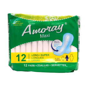 Amoray Pads Maxi Super Long 12PK