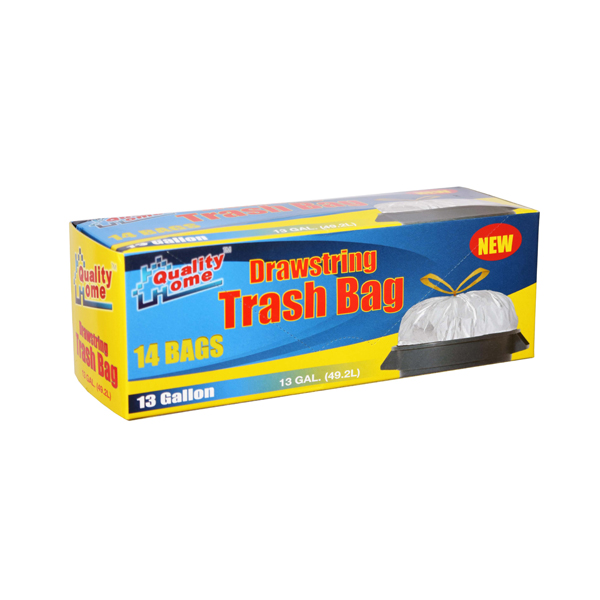 Garbage Bag Box 13G 14CT W/Draw Strings