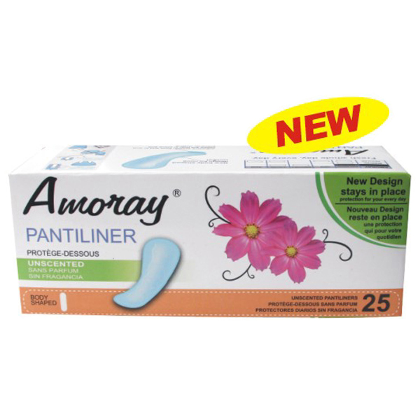 Amoray Panty Liner 25CT Unscented