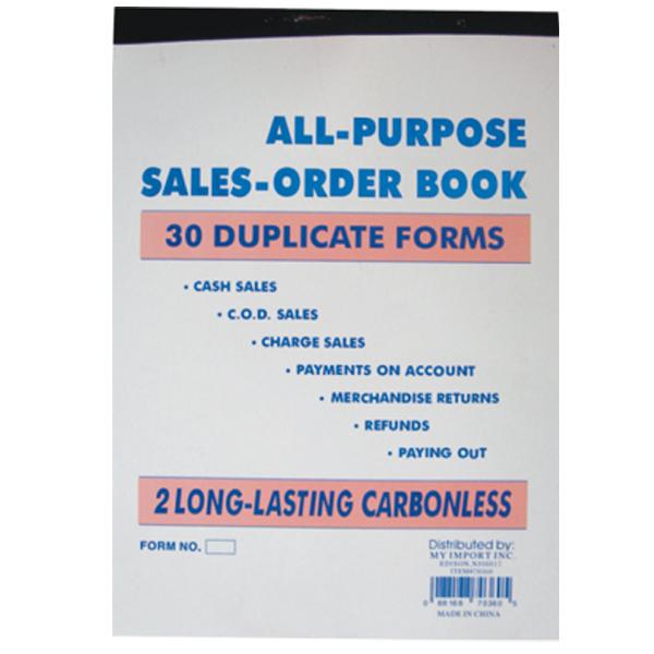 Duplicate Sales Book 7