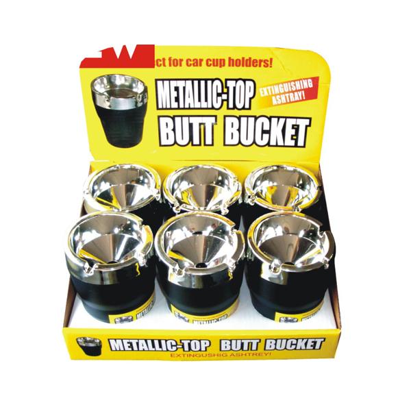 Butt Bucket Counter Display Metallic Top
