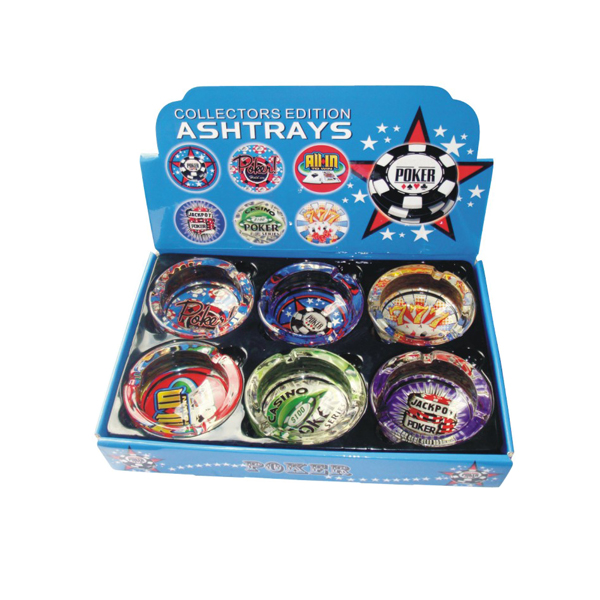 Ashtray Glass Poker