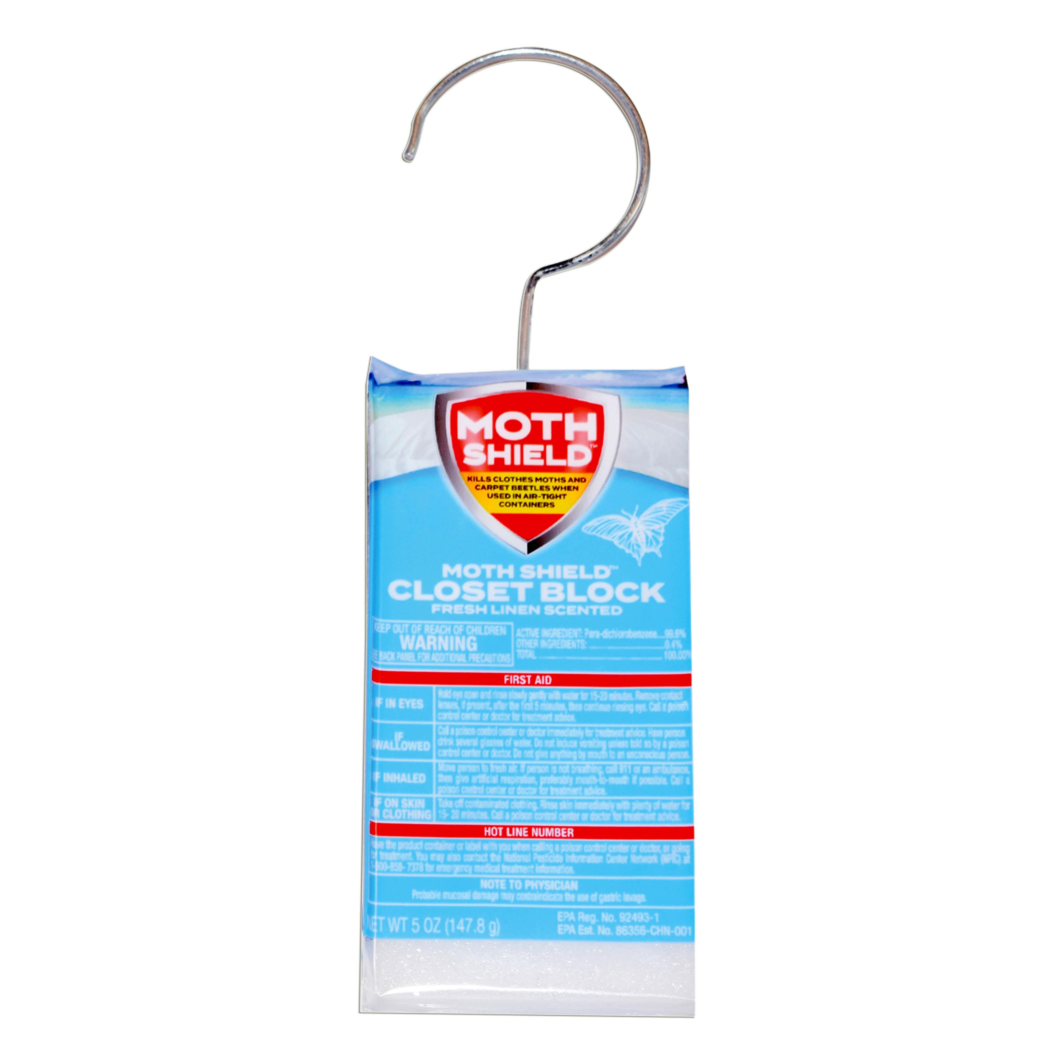 Moth Shield Closet Deodorizer 5oz Fresh Linen