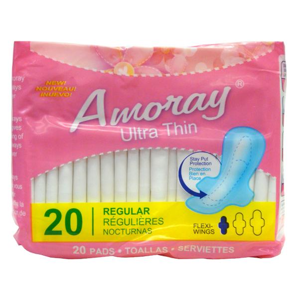 Amoray Pads Ultra Thin Regular 20PK