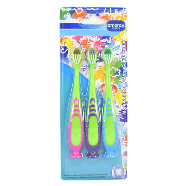 Amoray Toothbrush Boys Round Shapes