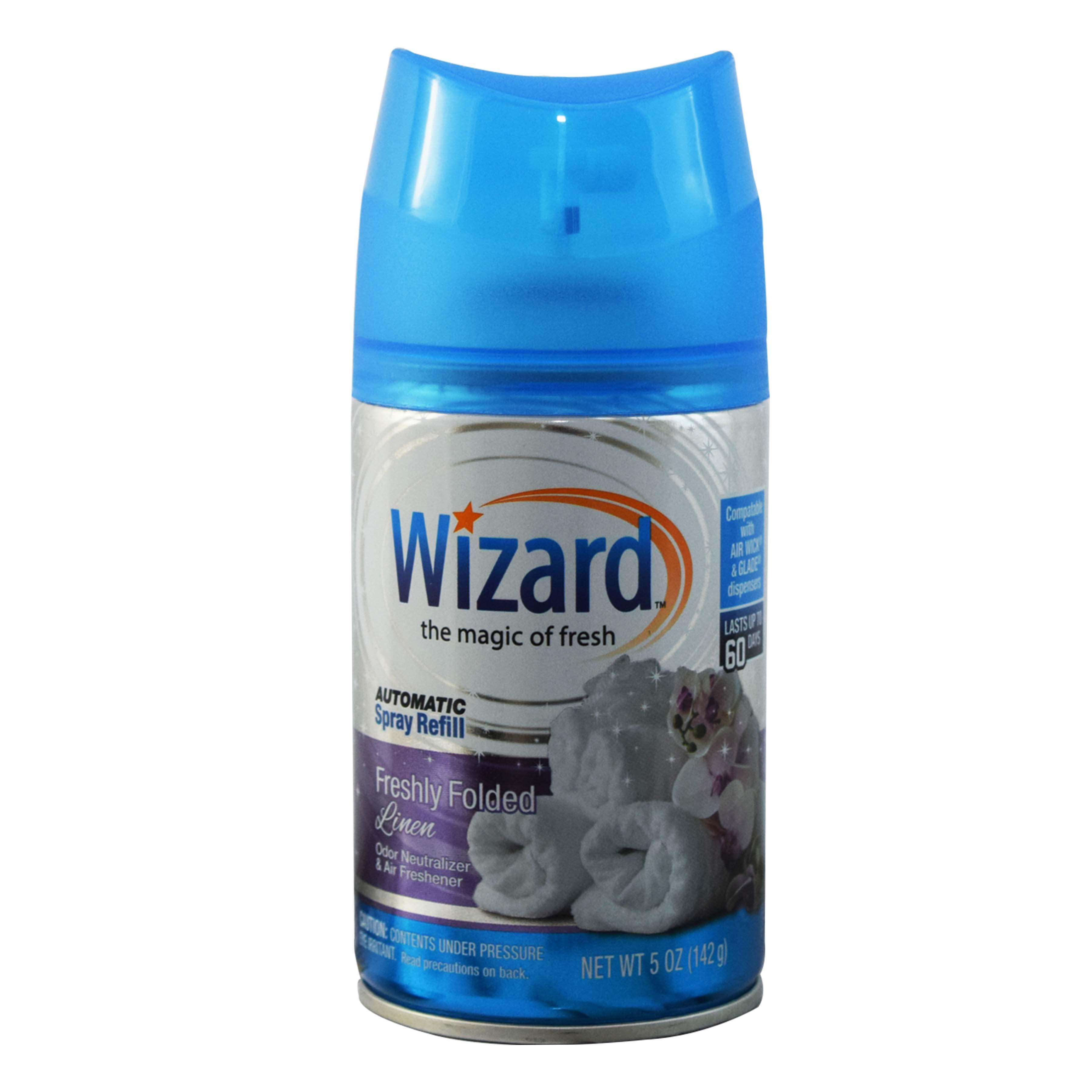 Wizard 5 oz. Automatic Spray Refills, Freshly Folded Linen