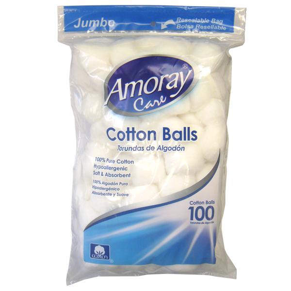 Amoray Cotton Balls 100CT Jumbo